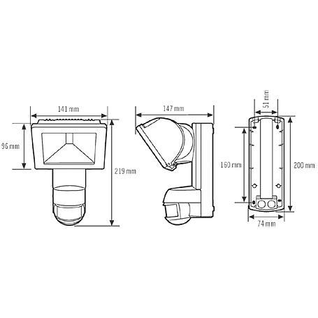 Esylux Halogenstrahler 150W AF 150/200i ws