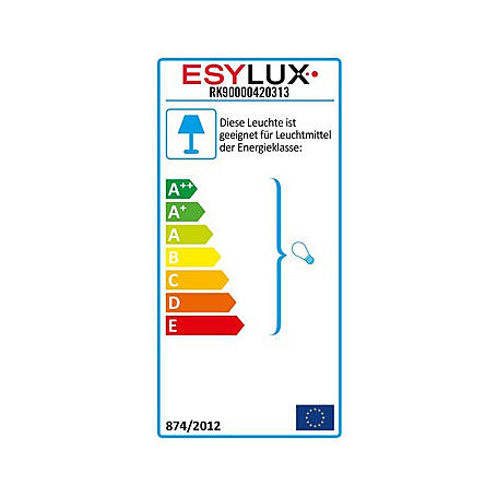 Esylux Halogenstrahler 500W HAST 500 AL-sw
