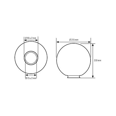 Esylux System-Glas Oslo für Serie AL S