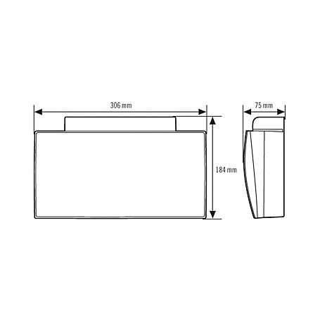 Esylux Notleuchte SLF LEDiSC/C Wand 30m EKW 4W ws