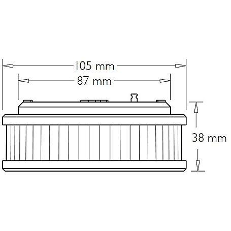 Pyrexx PX-1 V3-Q Rauchmelder + Klebepad weiß 3er