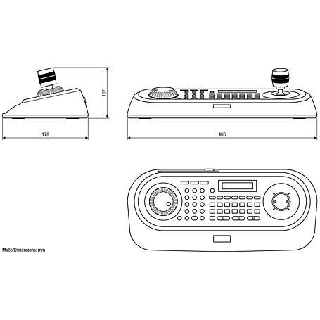 Eneo KBD-2 Systemtastatur 3-Achsen Joystick