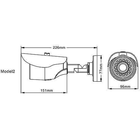 3erSet Eneo VKC-900IR2812 Analogkamera 900TV Vario