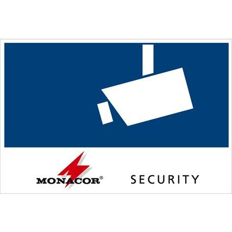 MONACOR CCTV-LABL/OS Aufkleber Sec. 120x80mm, Au