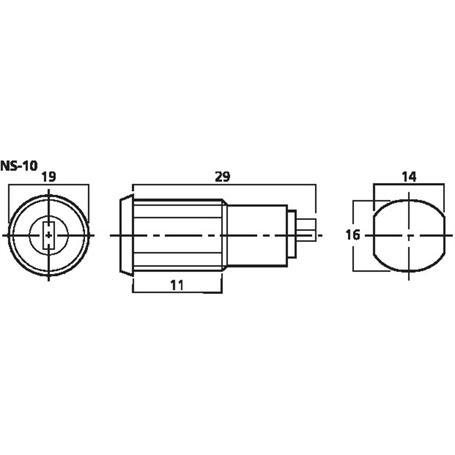 MONACOR NS-10 Schlüsselschalter