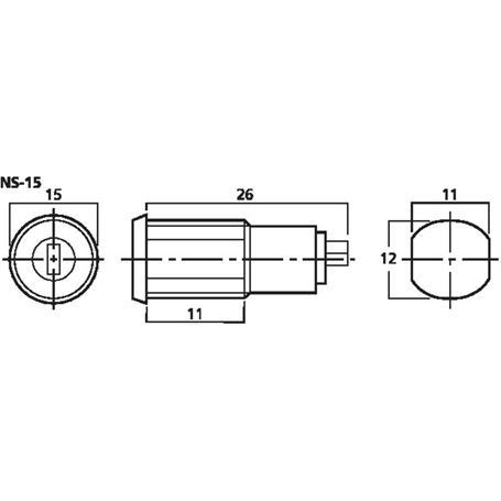 MONACOR NS-15 Schlüsselschalter