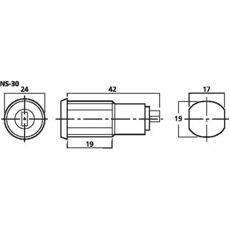 MONACOR NS-30 Schlüsselschalter