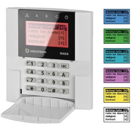 Jablotron JA-81E/RGB LCD-Bedienteil, drahtgebunden