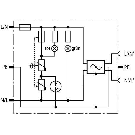 DEHN+SÖHNE DEHNprotector DPRO 230 F ÜS-Adapter