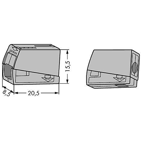 Wago Leuchtenklemme 224-101 1x1.0-2.5qmm 100 Stück