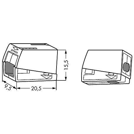 Wago Leuchtenklemme 224-112 2x1.0-2.5qmm 100 Stück