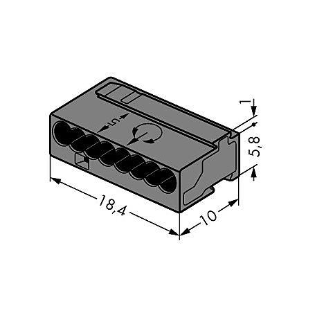 Wago Klemme 243-208 8x0.6-0.8qmm 50 Stück