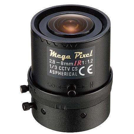 Eneo F02Z2.8M-NFSHD F1,2/2,8-8mm, 3 Megapixel HD