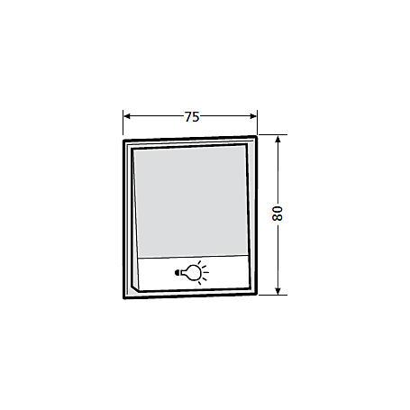 Renz Tastenmodul 1 Lichttaster - 97-9-85273 - grau