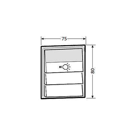 Tastenmodul mit 1 Licht 3 Klingel, grau 97-9-85276