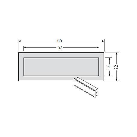 Renz Kombitaster LIRA 65x22 braun 97-9-85116