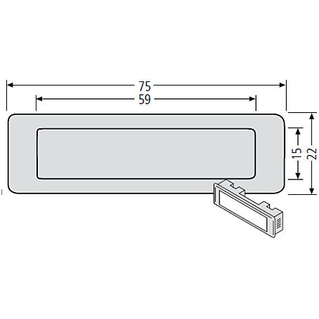 Renz Kombitaster LIRA 75x22 braun 97-9-85110