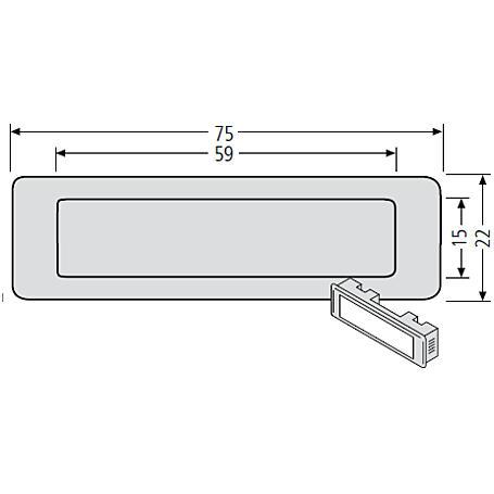 Renz Kombitaster LIRA 75x22 grau 97-9-85110