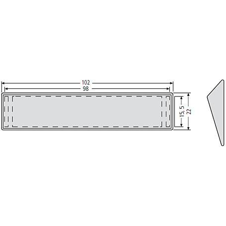 Renz Sichtglas mit Haltekeilen 97-9-82036