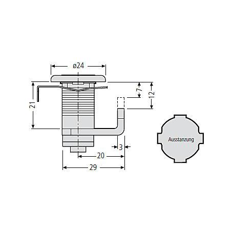 Renz Zylinderschloss ER,  97-9-95225