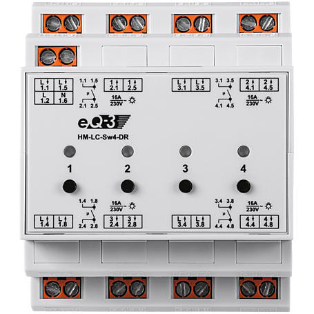 HomeMatic Funk-Schaltaktor 4-fach HS HM-LC-Sw4-DR