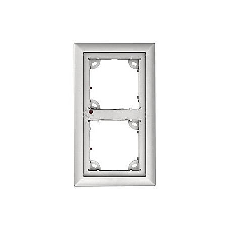 Mobotix 2er Rahmen, silber