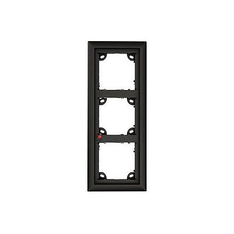 Mobotix 3er Rahmen, schwarz