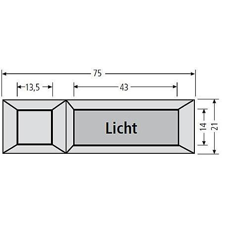 Renz Lichttaster Lira  braun, 75x22, 97-9-85111
