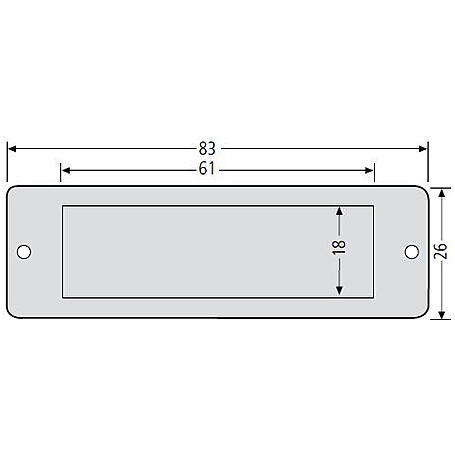 Renz Namensschildabdeckung Plexiglas 97-9-82022