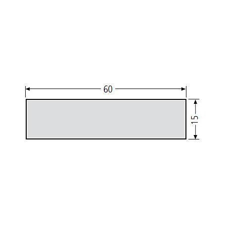 Renz Namensschildeinlage 60x15, weiß, 97-9-87001