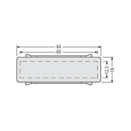 Renz Namensschild 64 x 19 mm mit Feder 97-9-00303
