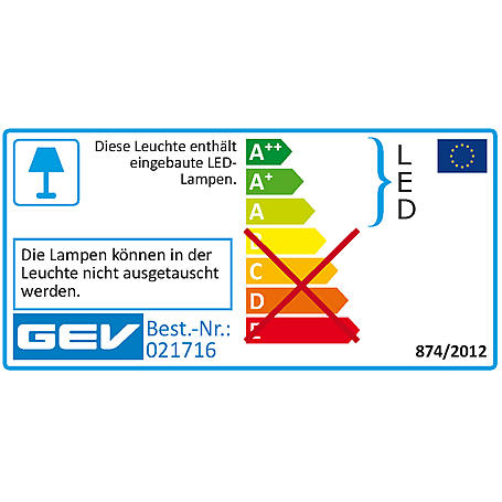 GEV LED Sensor-Wegeleuchte 21716 Standleuchte 230V