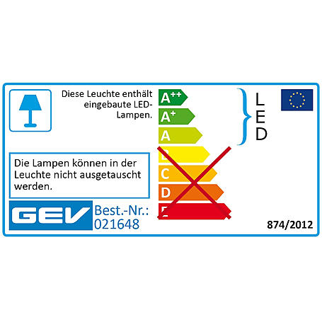 GEV LED Sensorleuchte LBE 21648 Dimmatic-Funktion