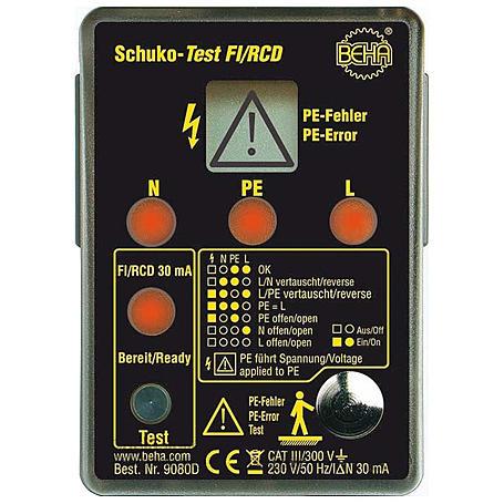 Fluke Schuko-Test Fi/RCD Amprobe 9080
