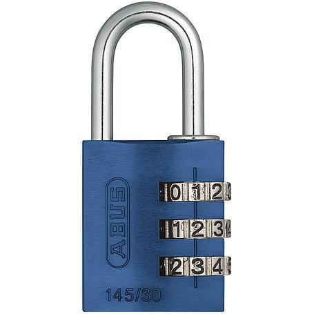 ABUS Aluminium Zahlenschloss 145/30 blau