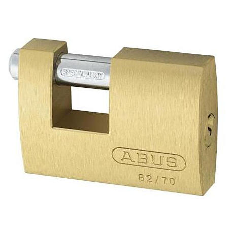 ABUS Monoblock 82/70 Messing Vorhängeschloss