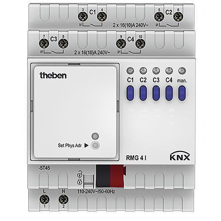 Theben Schaltaktor 100-240V AC RMG 4 I KNX