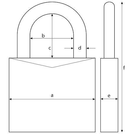 Abus TITALIUM Vorhangschloss 86TI/55 ohne Zylinder