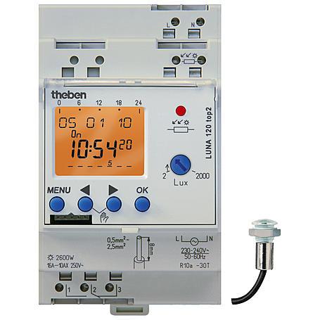 Theben Dämmerungsschalter LUNA 120 top2 EL +Sensor