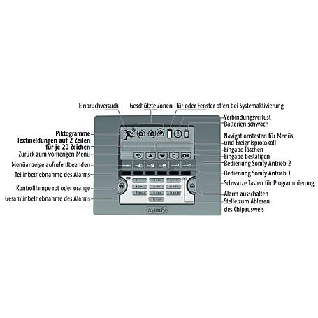 Somfy Protexial Funk-LCD-Bedienteil - Chipausweis