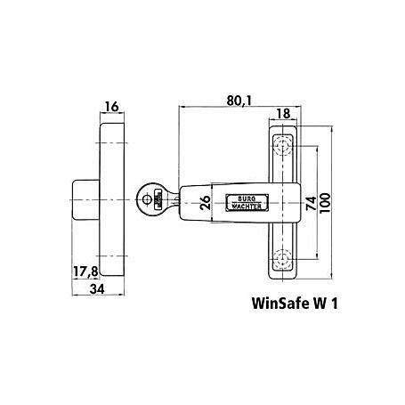 Burg Wächter WinSafe W1 W SB Fenstersicherung