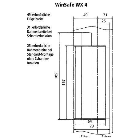 Burg Wächter Winsafe WX 4 BR SB Fenstersicherung