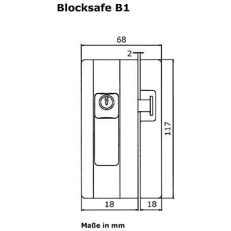 Burg Wächter Fenstersicherung Blocksafe B1 W SB