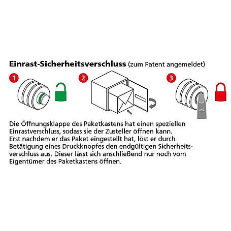 Burg Wächter Paketbox eBoxx E 634 SW Volumen 98L