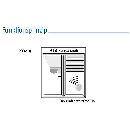 Somfy Sunis Indoor Funk- Helligkeitssensor RTS