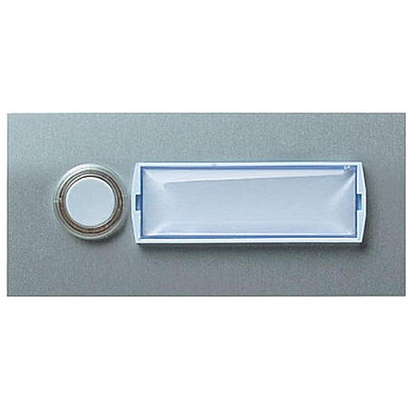 Friedland Kontaktplatte E101/1, beleuchtbar silber