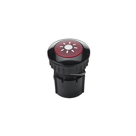 Grothe Klingeltaster PROTACT 100 LED, schwarz-rot