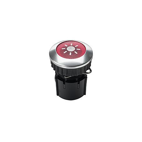 Grothe Klingeltaster PROTACT 101 LED, alu-rot