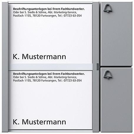 Siedle + Söhne Tasten-Modul TM 612-2, silber