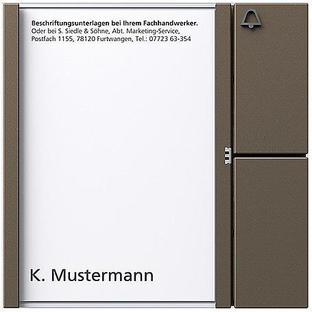 Siedle + Söhne Bus-Tasten-Modul BTM 650-01, BG